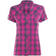 Bergans Leknes Lady Shirt Short Sleeve hot pink/navy check